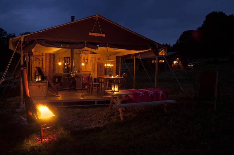 Canvas Lodge with en-suite shower - sleeps 6