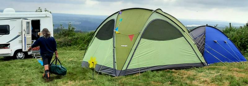 Grass Pitch for Campervan or Motorhome