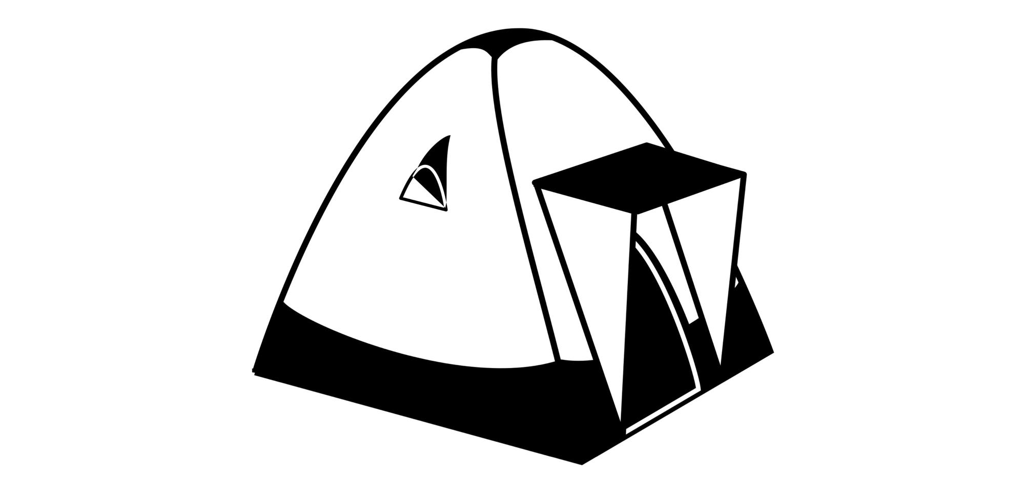 Dome tent illustration
