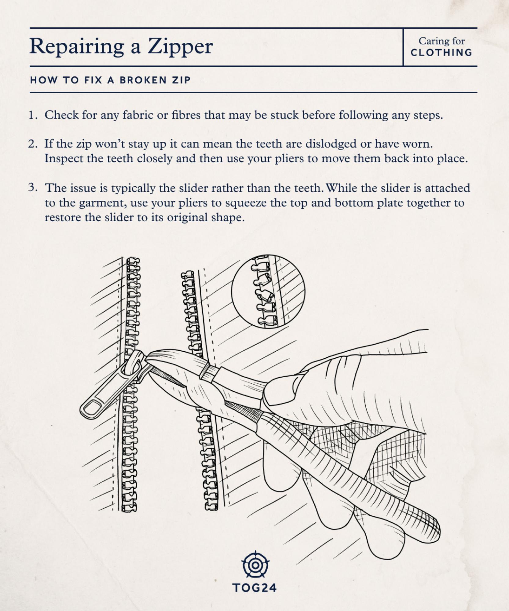 Fixing a zip