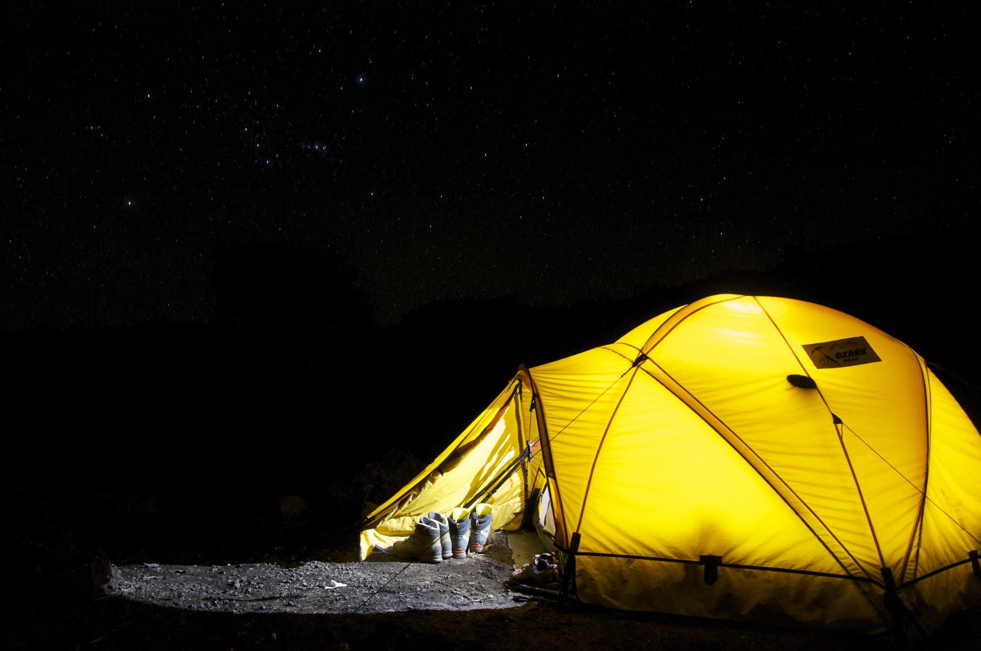 Wild Camping in the Dark