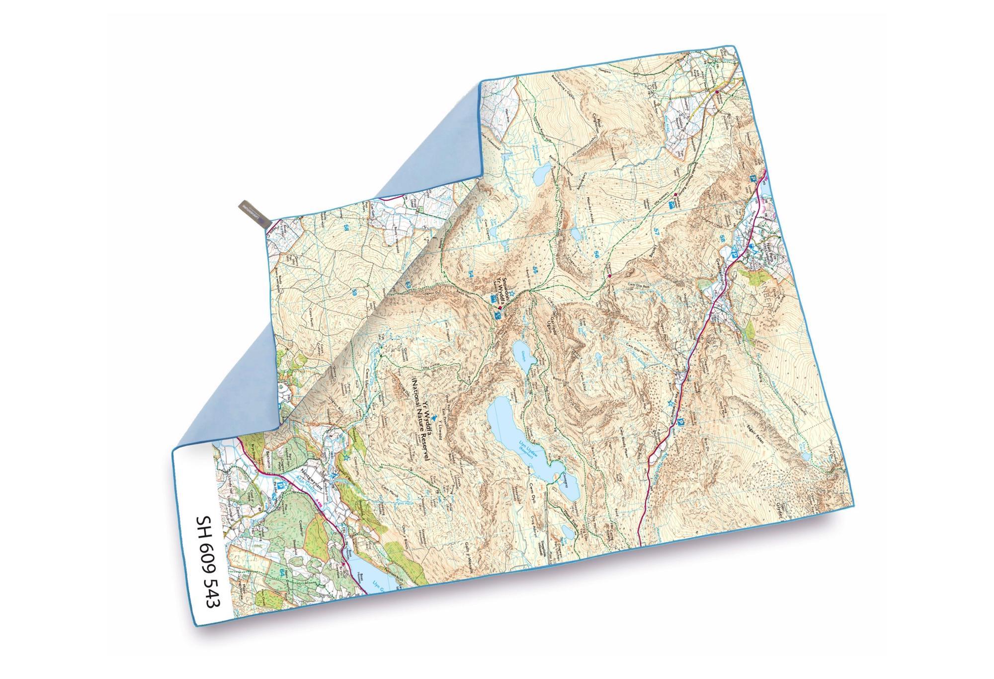 Ordnance Survey Map Towel