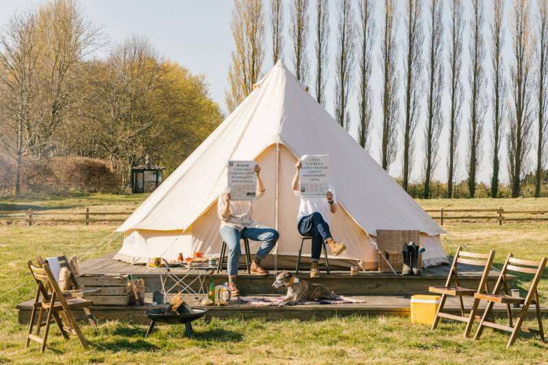 Bell Tent on a Raised Platform