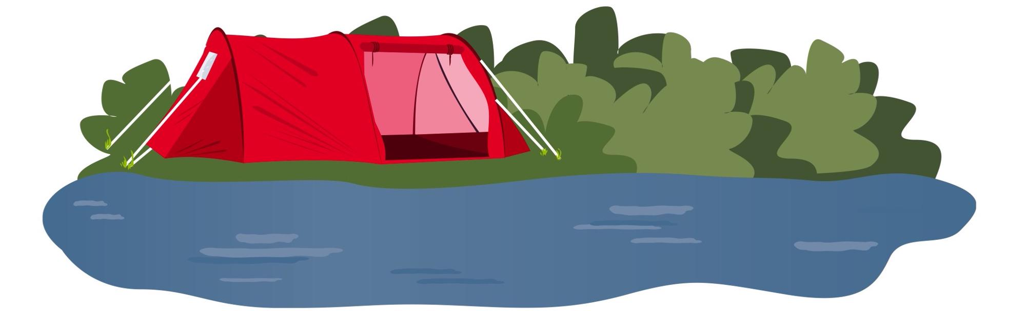 Family tent illustration