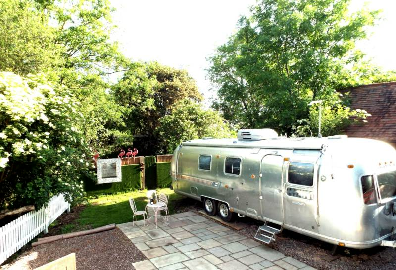 The Airstream & Cabin at House on the Brooks
