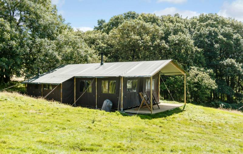 Feather Down safari tents can comfortably sleep a family of up to six people.
