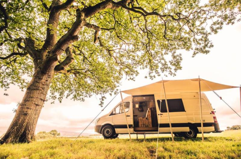 Grass pitch for campervan or caravan