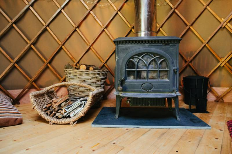 Glamping with Woodburning Stoves