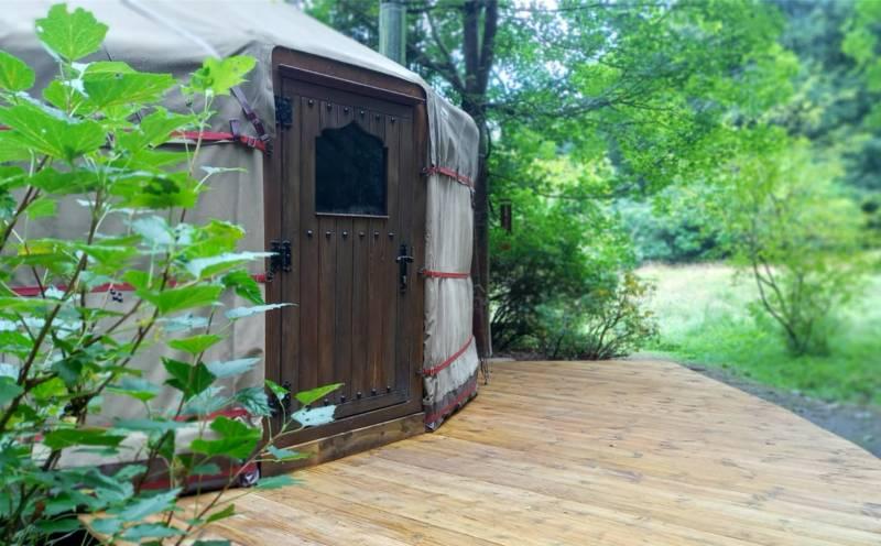 Esk Yurt Bellspool Coach House, Dawyck, Peebles, EH45 9JU