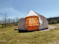 Lunar Bell Tent in a separate field