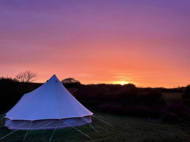 Fully-furnished bell tent