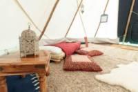 Pilton Yurt Camps- Traditional Tipi for 2-4