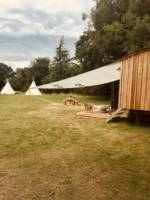 Child-free tipi glamping in a Norfolk meadow
