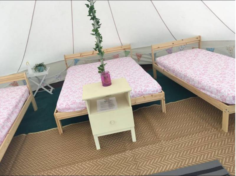 Part-Furnished Bell Tent