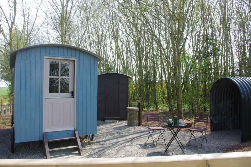 Shepherd's Hut at Broadmeadow Glamping