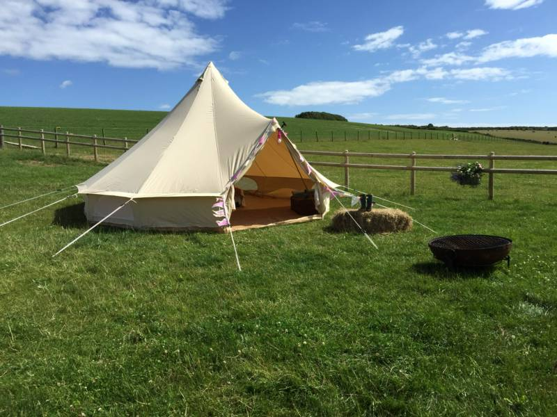 5m Part furnished bell tent