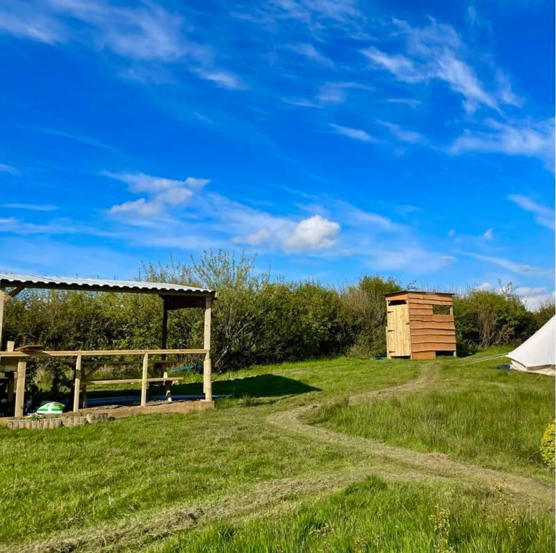 En-suite camping pitch